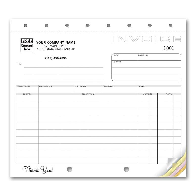 [Image: Shipping Invoice Classic Design Small Format]