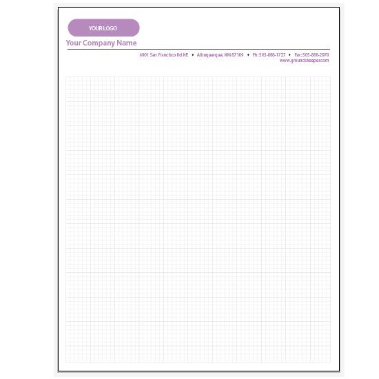 [Image: Personalized Graph Paper Pads - 6 x 6 Squares per Inch Pad]