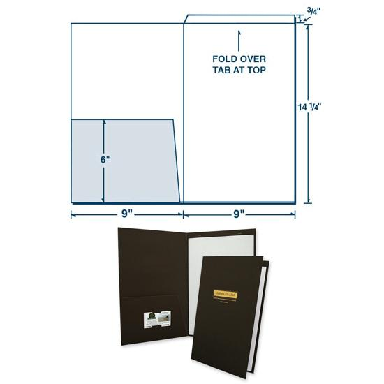 [Image: Legal Size Presentation Folder with Fold Down Tab]