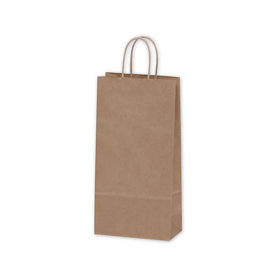"[Image: Kraft Paper Shopping Bag, Double Wine, 6 1/2 X 3 1/2 X 13"" , Retail Bags]"