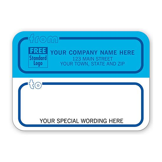 [Image: Shipping Label - Return Address Label Rolls, Blue & White - Blue Borders]