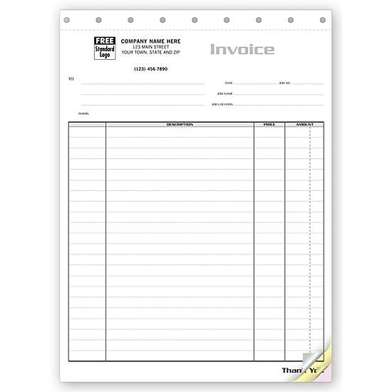 Contractor Invoices Construction Invoice Custom