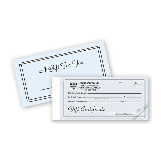 [Image: Custom Gift Certificate Snap sets - Contemporary Design]