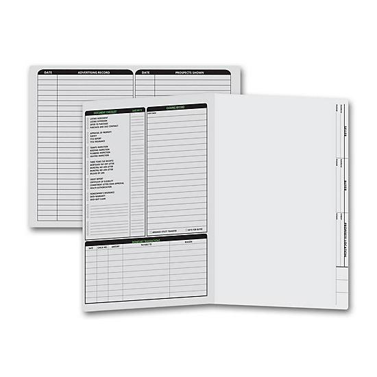 [Image: Real Estate Folder, Left Panel List, Letter Size, Gray]