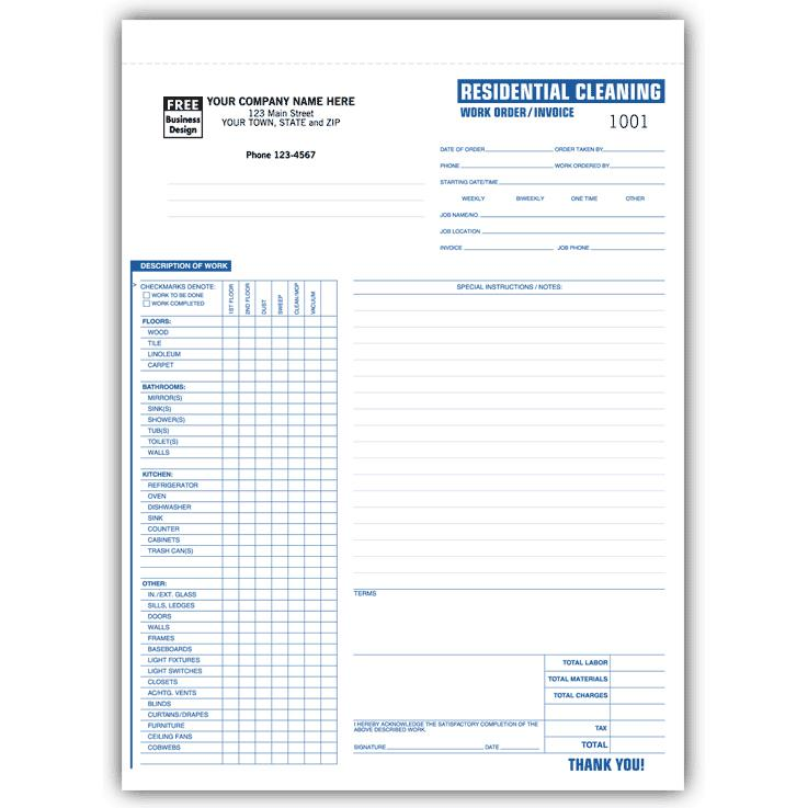Work Order Invoices | Designsnprint