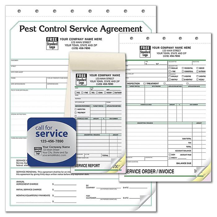 [Image: Professional Pest Control Forms - Business Starter Kit]
