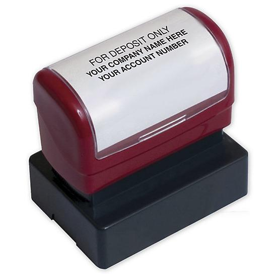 [Image: Endorsement Stamp - Pre-Inked, Custom Layout]