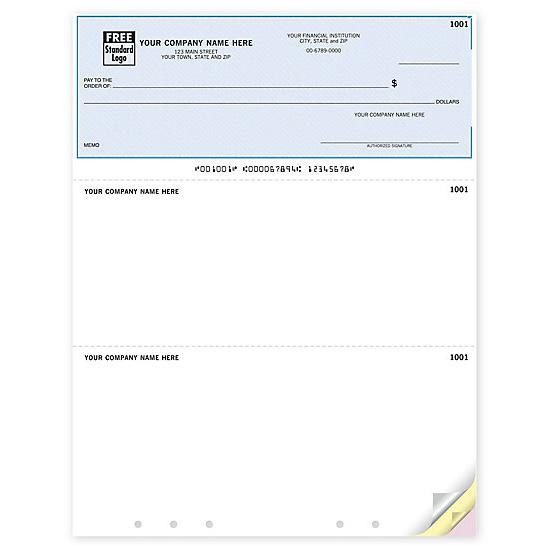 [Image: Quick Pay Laser Lined, Hole Punched Multipurpose Check DLT102]