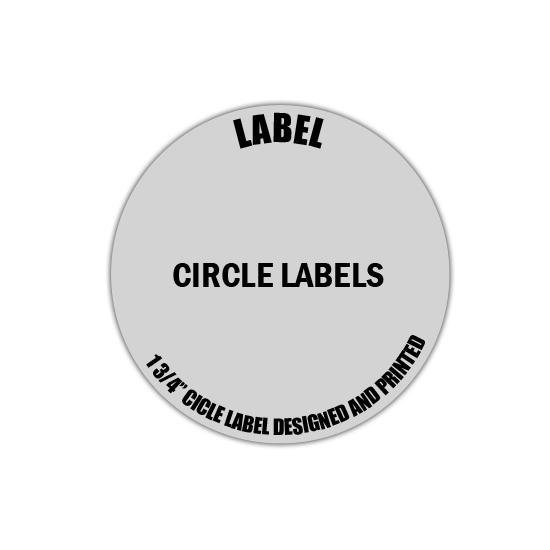 "[Image: 2"" Circle Label - Personalized & Custom Printed]"