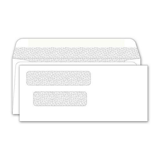 "[Image: Double Window Envelopes 8 x 3 1/2""]"