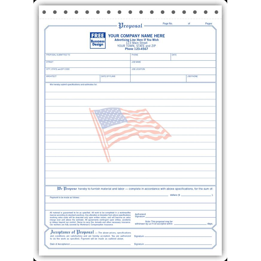 Free Printable Contractor Proposal Forms Gidiyedformapolitica