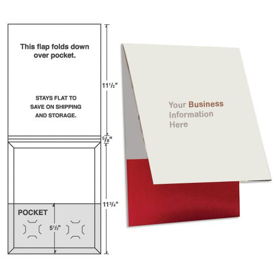 [Image: Custom Presentation Folder With One Pocket - Matchbook Style]