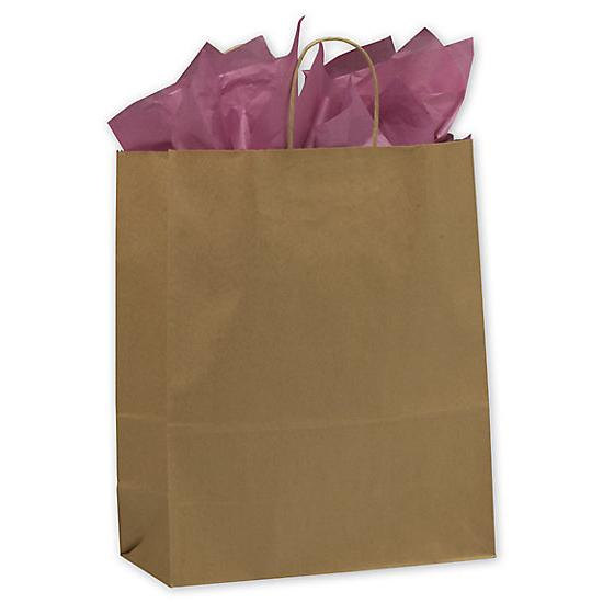 "[Image: Kraft Paper Shopping Bag With Handles & Square Bottom, 13 X 6 X 15 1/2"", Retail Bags]"