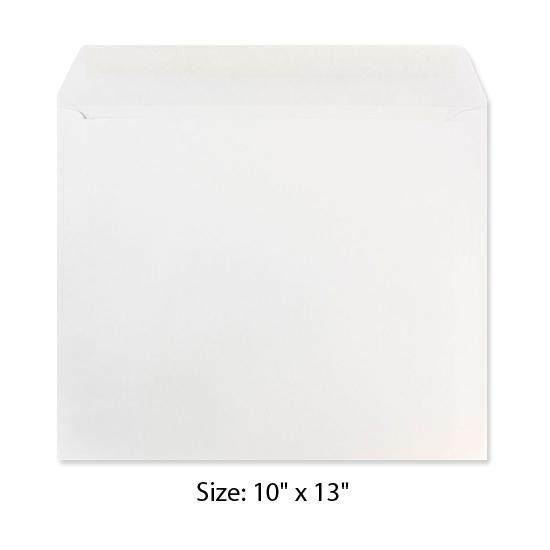 [Image: 10 x 13 White Booklet Envelope - Custom Printed]