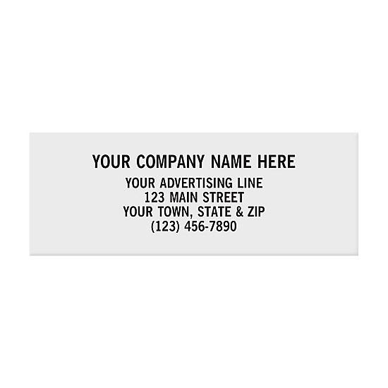 "[Image: Rectangle 2 X 3/4"" Paper Label - Custom Printed]"