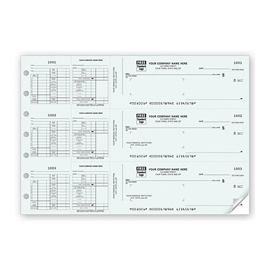 [Image: 3-On-A-Page Payroll Check Works With Window Envelope]
