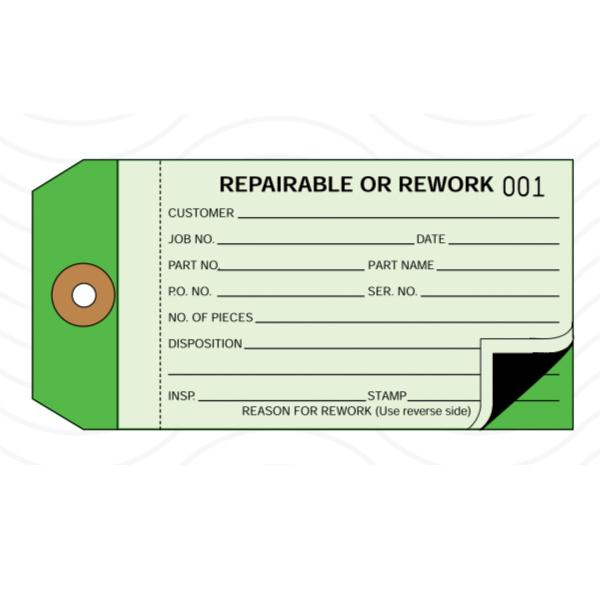 [Image: Repairable or Rework Tag]
