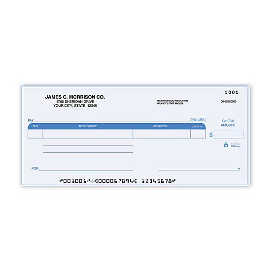 [Image: Compact Size One Write Check]