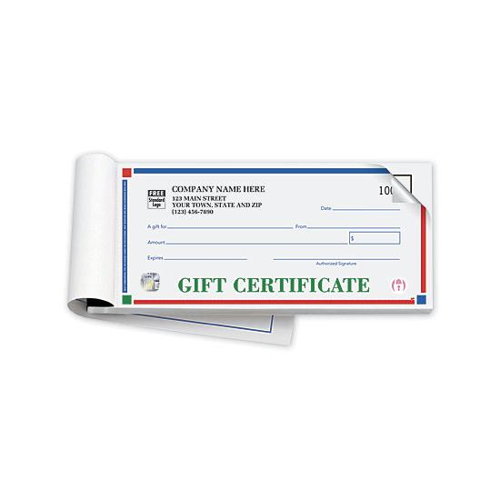 personalized gift certificates booked carbon copy designsnprint