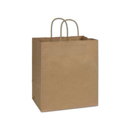 "[Image: Brown Kraft Paper Bag with Handles, Custom, medium 10 x 6 3/4 x 11 3/4""]"