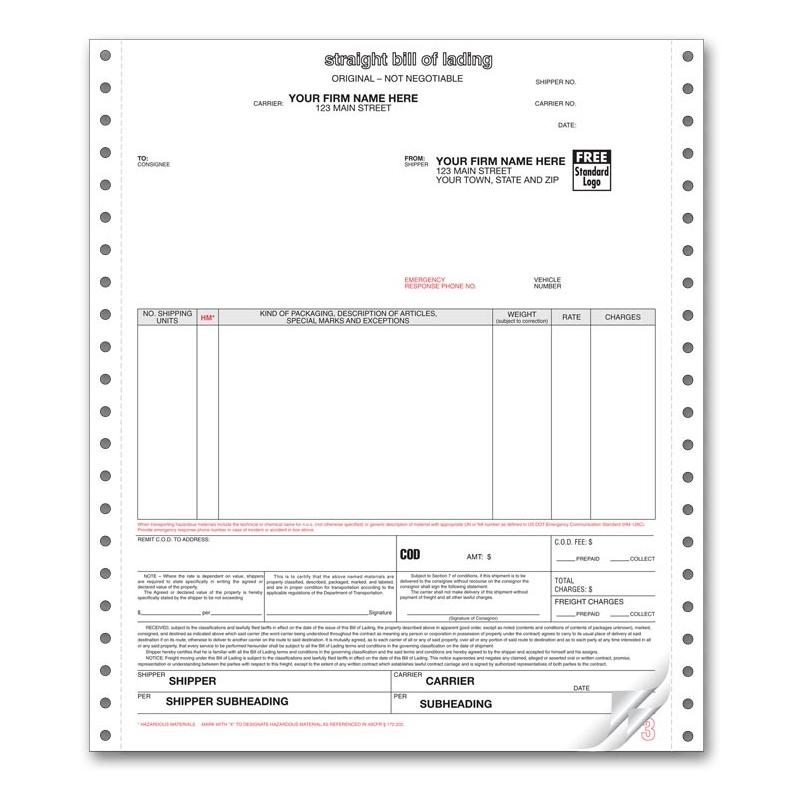[Image: Bills of Lading Continuous Form]