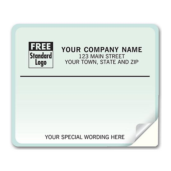[Image: Shipping Label - Return Address Label, Green Gradient Background]
