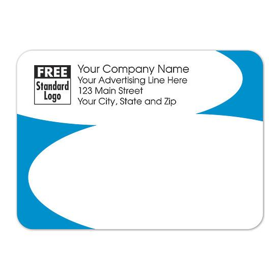 "[Image: Rectangular Shipping Label With Blue Corners 3.87 x 2.81""]"