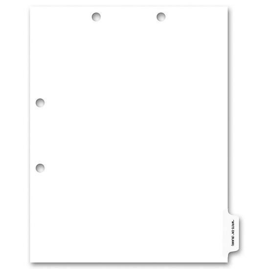 [Image: Side Tab Chart File Divider, Blank Write-On, Clear Tab]