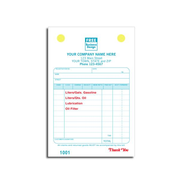 [Image: SERVICE STATION REGISTER INVOICE FORM]