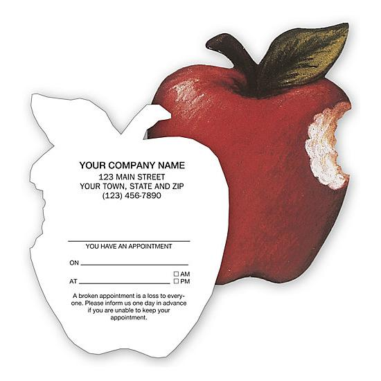 [Image: Apple Shaped Appointment Card]