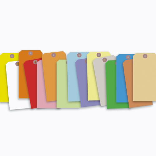 "[Image: Colored Tags With Wire or String 6 1/4 x 3 1/8""]"
