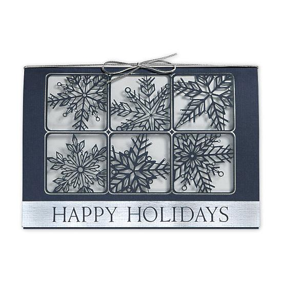 [Image: Silvery Snow Laser Cut Holiday Cards]
