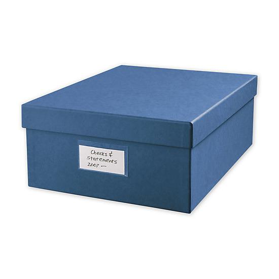 "[Image: Large 12 X 9 3/4"" Cancelled Check Storage Box]"