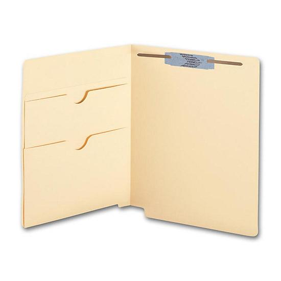[Image: End Tab Twin Pocket Manila Folder, 11 Pt, One Fastener]