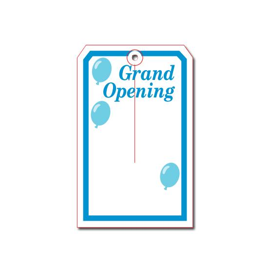 [Image: Grand Opening Tag]