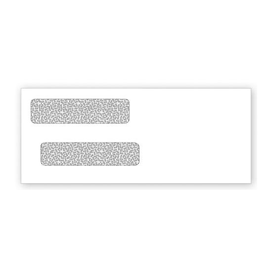 [Image: Double Window Check Envelope - Mailing Envelopes, Tinted, Blank or Imprinted, Size 8 5/8 X 3 5/8]