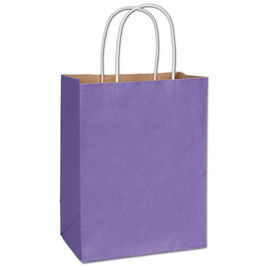 "[Image: Electric Violet Radiant Shopping Paper Bag, 8 1/4 X 4 3/4 X 10 1/2"", Retail Bags]"