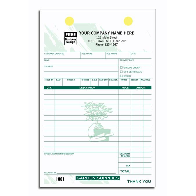 [Image: Garden Supply Register form]