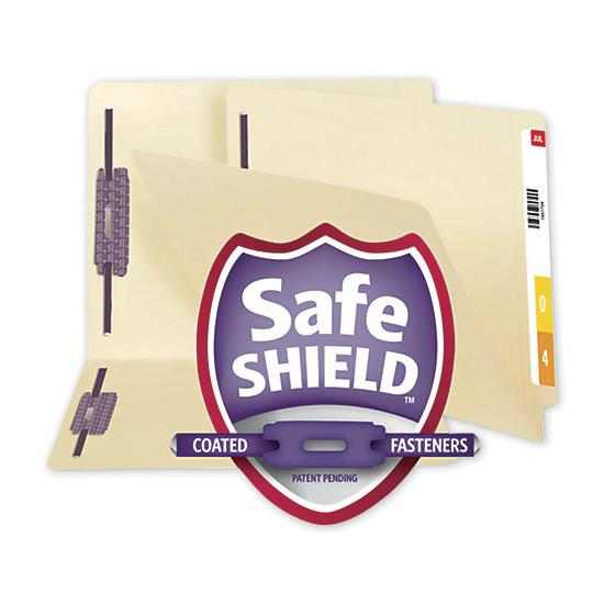 [Image: Smead End Tab File Folder With SafeSHIELD Fasteners, 11 PT]