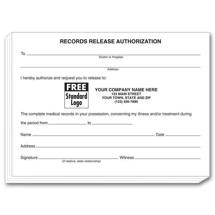 [Image: Patient Records Release Authorization Pads]
