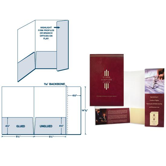 [Image: Custom Presentation Folder, Legal Size with Two Pockets & Flap Off Back Cover]