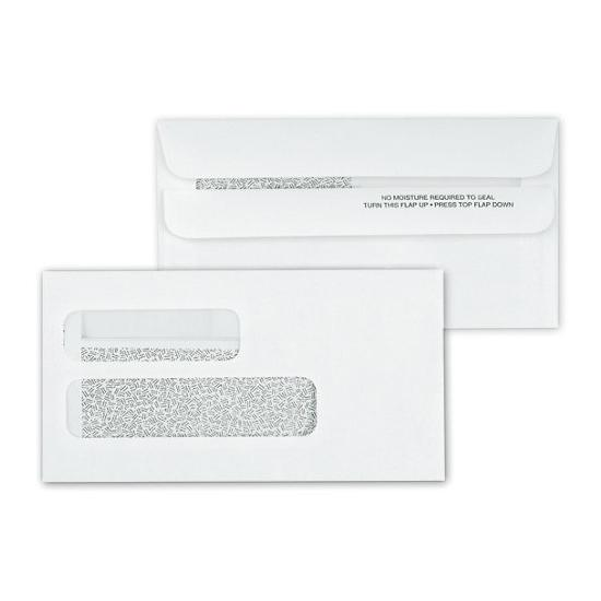 [Image: Double Window Confidential Self Seal Envelope 6 7/8 x 3 5/8]