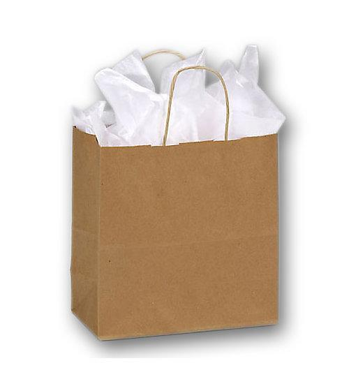 [Image: Kraft Paper Shoppers Emerald Bag With Handles]
