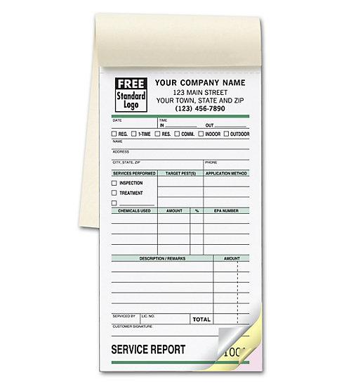 [Image: Pest Control Receipt Book - Small Service Order Booklet]
