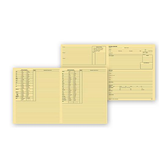 [Image: Internal Medicine Exam Records, 4 Page, Letter, Buff]
