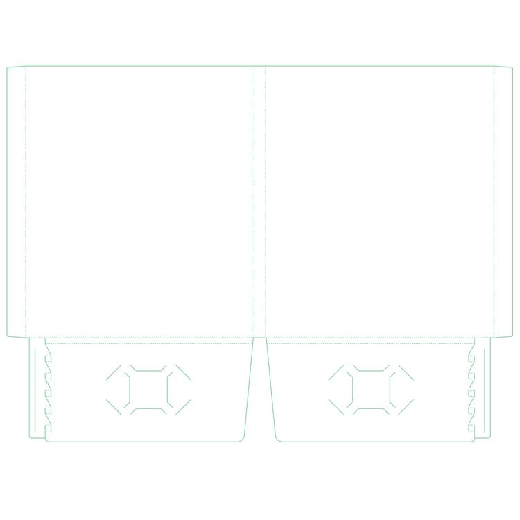 "[Image: 9.875"" x 11.75"" Two Pocket Expandable Capacity Folder with 1″ spine -  Reinforced Edge]"