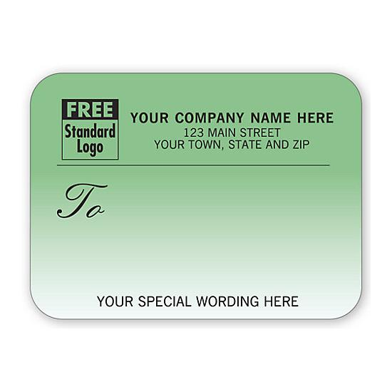 [Image: Shipping Label - Return Address Label, Teal Gradient]