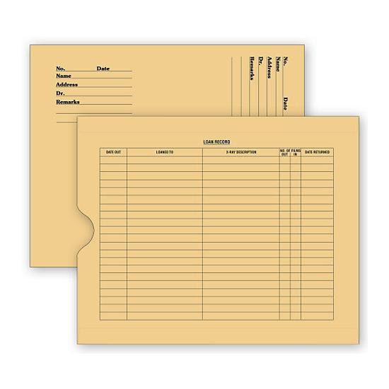 [Image: X - Ray File Pocket Envelopes, 32 Lb. Kraft, Pre-Printed]