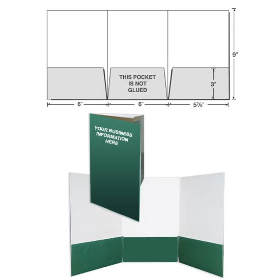 "[Image: 6"" x 9"" Presentation Folder with Three Panels]"