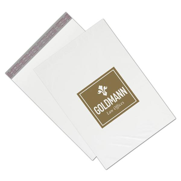 "[Image: Custom poly mailers for clothing, 14 x 19"", White]"